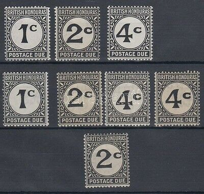 Belize stamp 1923/1956 Postage due stamps MNH, Hinged 1923 WS231033