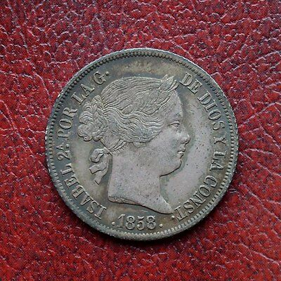 Spain 1858/7 silver 4 reales