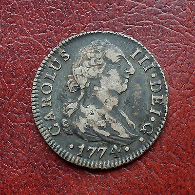 Spain 1774 silver 2 reales