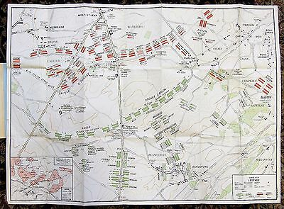 Battle Of Waterloo - Napoleonic Wars Plan (In French With English Text)