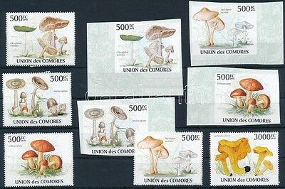 Comoroes stamp Mushroom perforated + imperforated set MNH 2009 WS232876