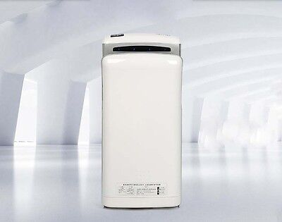 White Bathroom Wall Mounted Automatic Induction Super Quiet Hand Dryer Machine