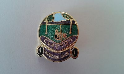 Badge Clayton Bowling Club with pin