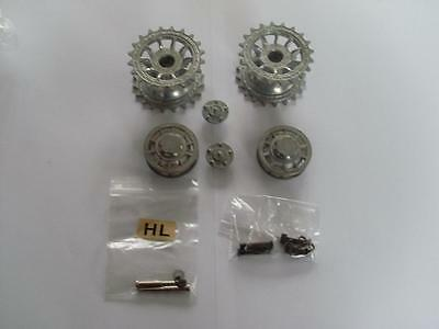 Taigen Tiger I Metal Sprockets & Idlers 1:16 RC Tank Late Version fit Heng Long
