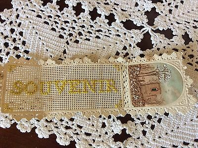 Swedish Antique Embroidered Bookmark Visby Sweden Lovely Victorian Memento