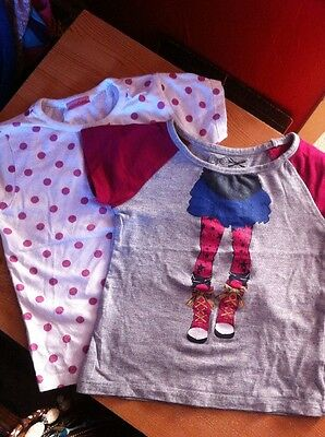 2 Girls short sleeved T Shirts Aged 3 years