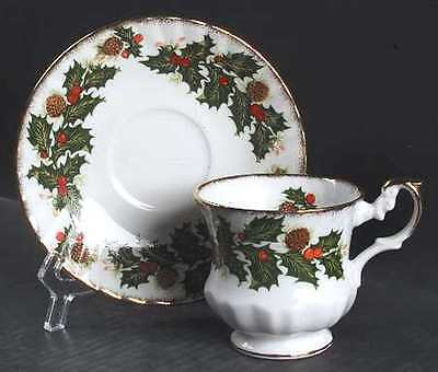 Footed Cup & Saucer Set in Yuletide (Scalloped) by Rosina-Queens