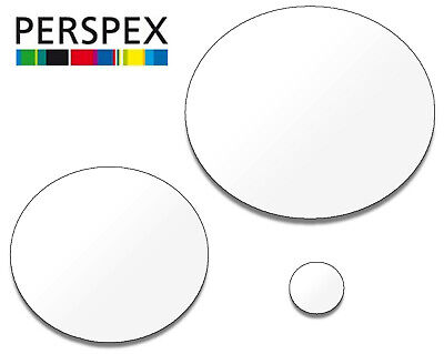 White Laser Cut Plastic Circles 3Mm Thick Acrylic Discs - Perspex Plexiglass