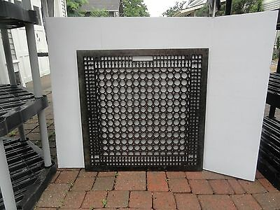 """Antique Cast Iron Floor Register from 120+ year old House 29.5""""x29.5"""" Ex. Cond."""