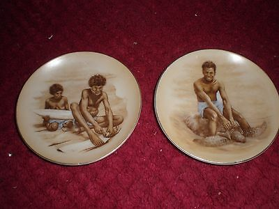 2 x Aboriginal Themed Brownie Downing?  Pin Dishes 10cm