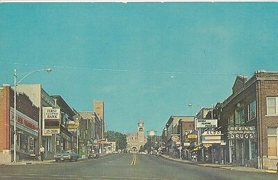 1960s view of Superior Ave downtown Crystal Falls, Michigan
