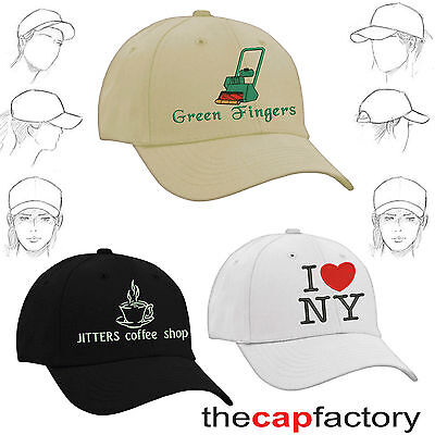 Personalised embroidered baseball caps images text name logo team party custom
