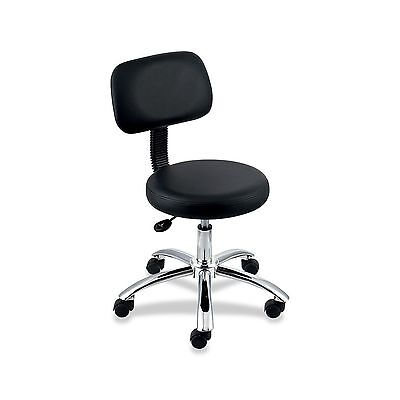 Lorell Pneumatic Height Stools with Back 24 by 24 by 36-Inch Black