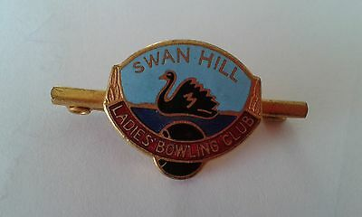 Badge Swan Hill Bowling Club  with pin on back