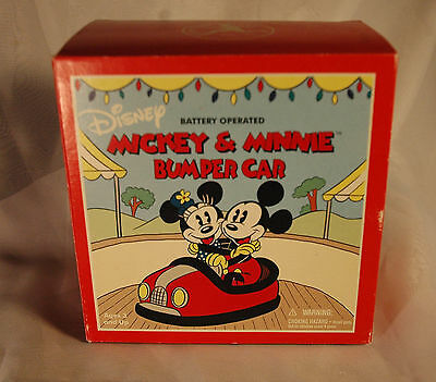 Mickey and Minnie Mouse - Retro Bumper Car (Battery operated). From Schylling To