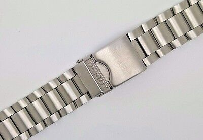 24mm Stainless Steel Brushed Watch Strap Bracelet For Zodiac Watch Curved Ends