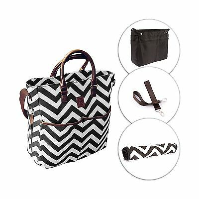 Diaper Bag with Changing Pad and Organizer Insert