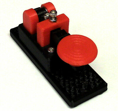 NEW Lightweight Micro Red Morse Code Telegraph Key MADE IN USA