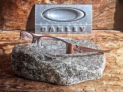 Oakley Treaty Eyeglasses 22-095 4.0 Polished Brown Cappuccino w/ Clear Lens