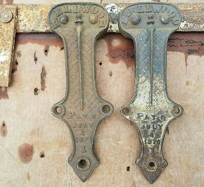 Antique Primitive Barn Door Rollers Hardware
