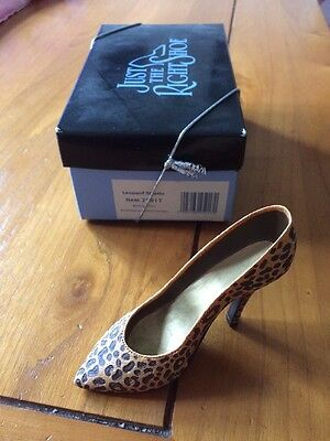 Just The Right Shoe Leopard Stiletto Boxed