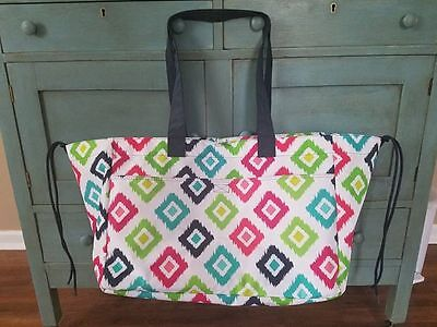 **BRAND NEW** Thirty-One Soft Utility Tote - Pattern is Candy Corners