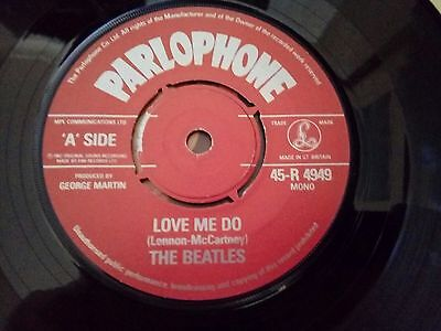 The Beatles Love me do. 1982 anniversary. Copy .Red Centre. 45-R 4949