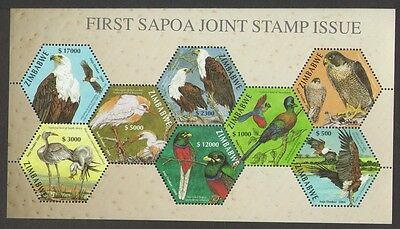 ZIMBABWE: 2004 1st SAPOA Joint Stamp Issue (National Birds) m/sheet superb UM