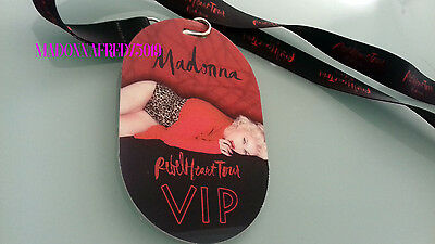 Madonna VIP Pass Rebel Heart Tour including Lanyard no ticket
