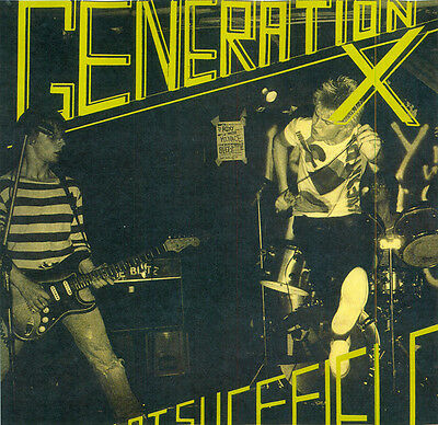 GENERATION X Live At Sheffield LP . punk billy idol the clash sex pistols damned