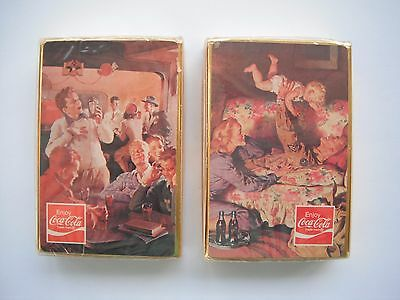 1970's Coca Cola Double Sealed Playing Card Decks Mint
