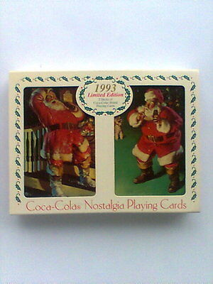 """1993 Limited Edition """"'COCA COLA"""" 2 Decks of Nostalgia Sealed Playing Cards"""
