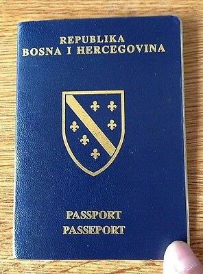Bosnia-Herzegovina 1993 First Issued Passport -Issued During War- Visa To Russia