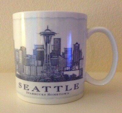 STARBUCKS 2006 Hometown Series Seattle Collectible Coffee Mug Cup, 18 oz
