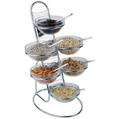 APS Buffet Ladder Set Food Stand Display Glass Bowls Catering Restaurant