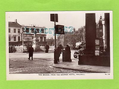 The Bridge from George Hotel Walsall RP pc used1932 WHS & S Ltd Ref B963