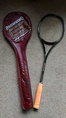 Browning Squash Racket - Model Precision Mid - Graphite and Kevlar Composite
