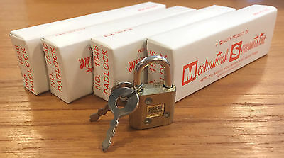 "Vintage Mechanical Servants Vending Machine Lot of 4 Mini 5/8"" Padlock Keys NOS"