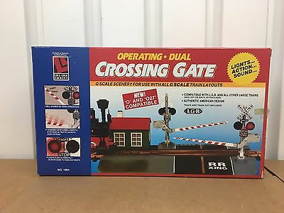 K LGB Life Like 1964 G Scale Dual Crossing Gates  Kit   New in box