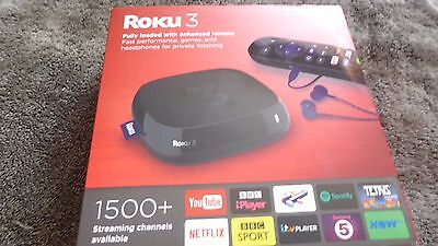 ROKU 3 Media Streamer Over 450 channels of entertainment 1080pHD video streaming