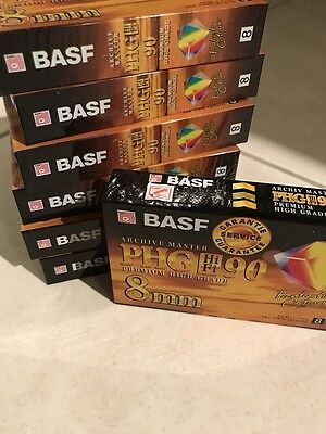 BASF 8mm PHG 90 Hi Fi Premium Archive Master Video Cassette Tapes New in Packet
