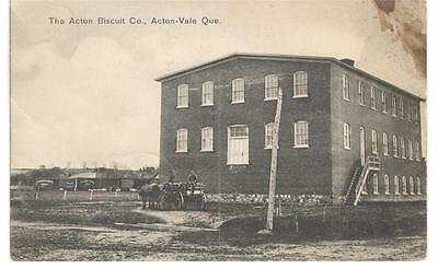 1910's PPC - The Acton Biscuit Co. Factory Building - Acton-Vale, Quebec