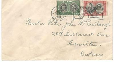 1939 Royal Train, Canada Flag Cancel 1c + 3c Royal Visit Issues to Hamilton