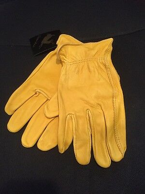 Luxury Deer Skin leather Gloves Natural Unlined Men's - Extra Large Size