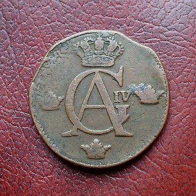 Sweden 1809 copper ½ skilling