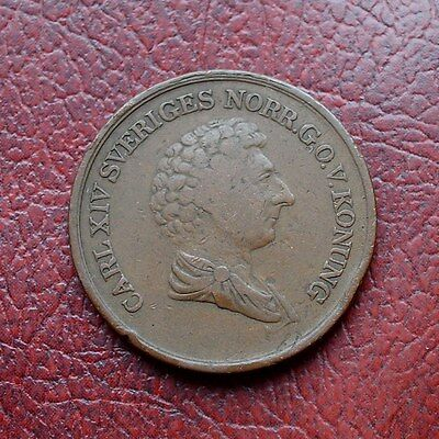 Sweden 1840 copper 2/3 skilling