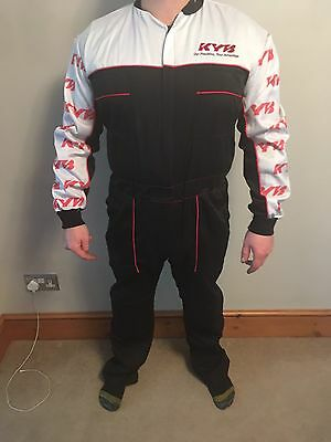 KYB GENUINE OVERALLS BRAND NEW SUSPENSION MECHANIC Large Replica Race Suits