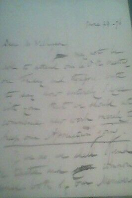 a letter from 1876