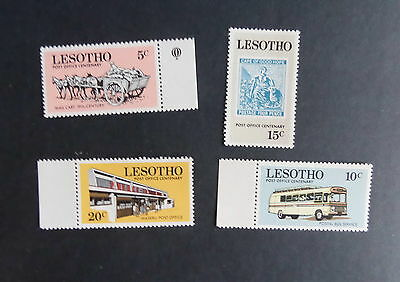 Lesotho 1972 Centenary of Post Office SG219/22 Bus Horse MNH UM unmounted mint