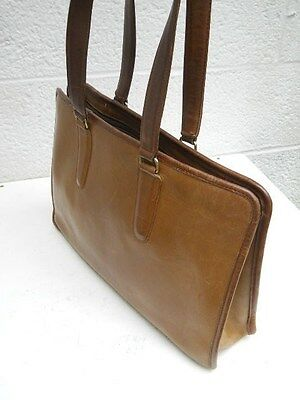 Genuine Vintage Coach Light Brown Leather Lady's Briefcase, Tablet, Laptop  Bag